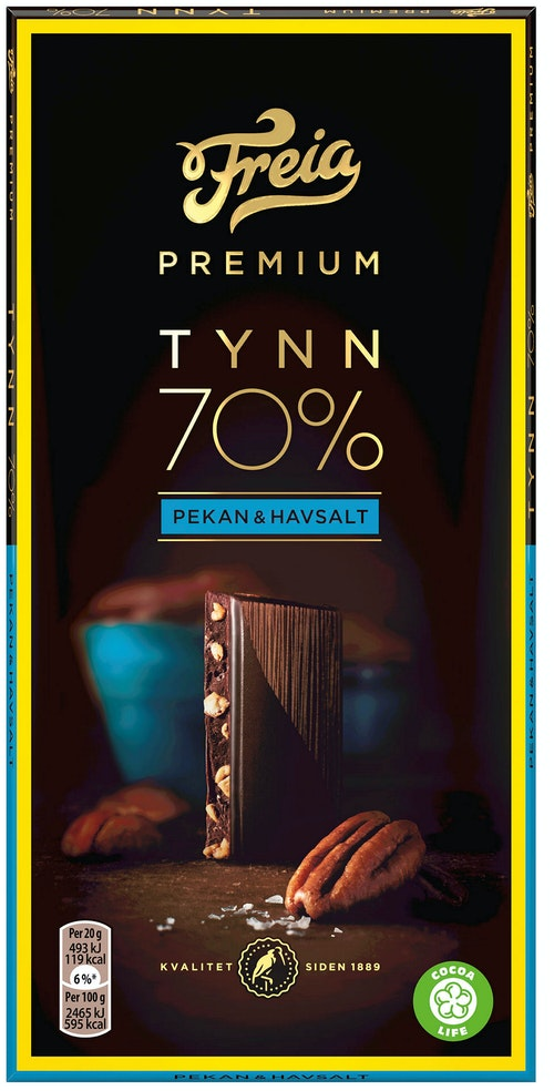 Freia Premium 70% Pekan & Havsalt 100 g