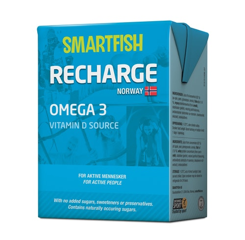 Smartfish Smartfish Recharge Omega 3 Sportsdrikk, 200 ml