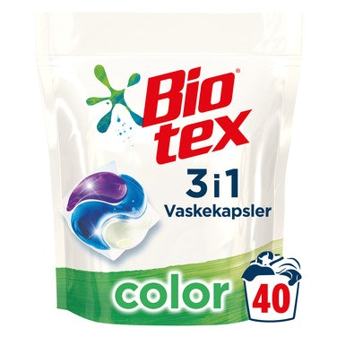 Biotex Bio-tex 3-i-1 kapsler Color, 40 stk, 1 stk