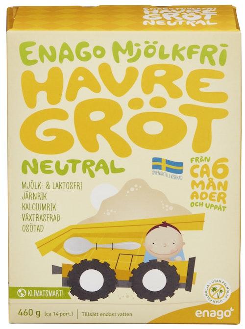 EnaGo Grøt u/melk naturell Fra 6 mnd, 460 g