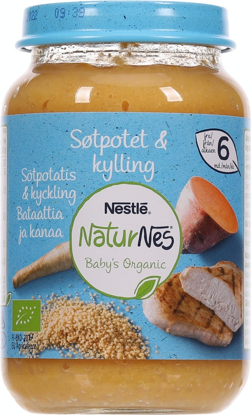 Nestlé NaturNes Søtpotet & Kylling Fra 6 mnd, 190 g