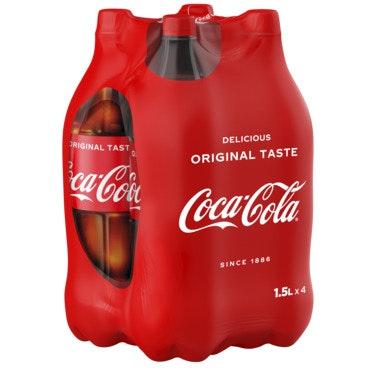 Coca-Cola Coca-Cola 4 x 1,5 l, 6 l