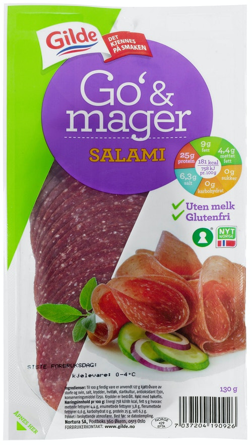 Gilde Salami Go Og Mager 130 g