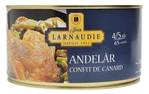 Jean Larnaudie Confit de Canard 4-5 stk Lår, 1,24 kg