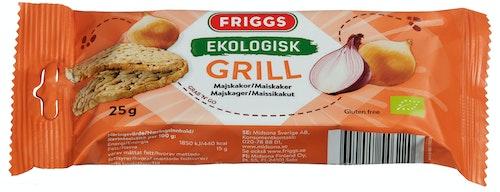 Friggs Maiskaker Snackpack Grill Økologisk, Glutenfri, 25 g