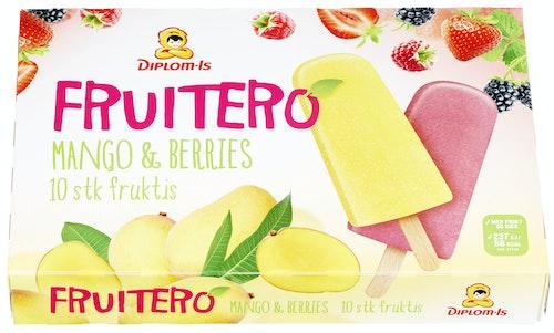 Diplom-Is Fruitero Mango og Bær 10 stk, 700 ml
