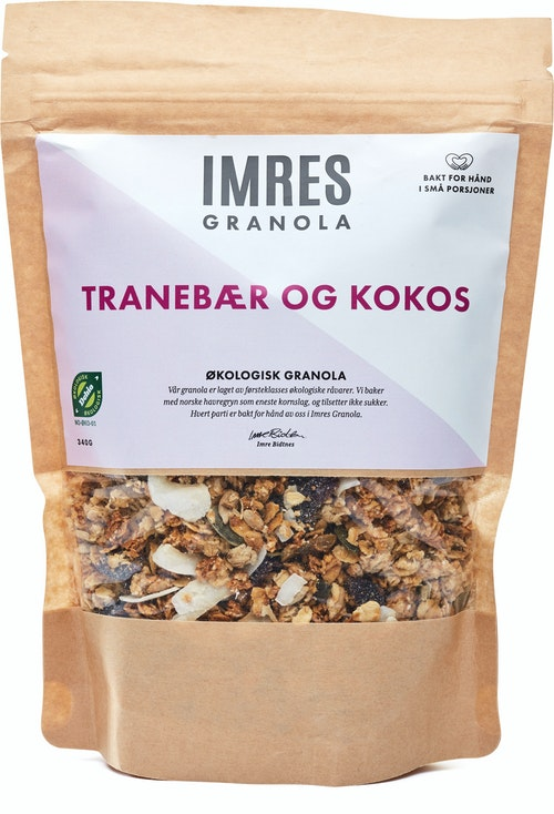Imres Granola Økologisk Tranebær og Kokosgranola 340 g
