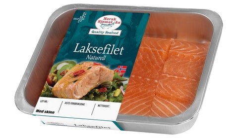 Laksefilet Naturell med Skinn