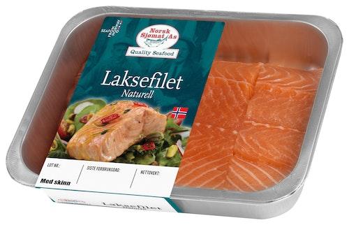 Norsk Sjømat Laksefilet Naturell med Skinn ca. 500 g