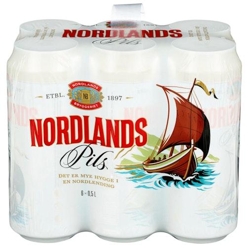 Ringnes Nordlandspils 6 x 0,5l, 3 l