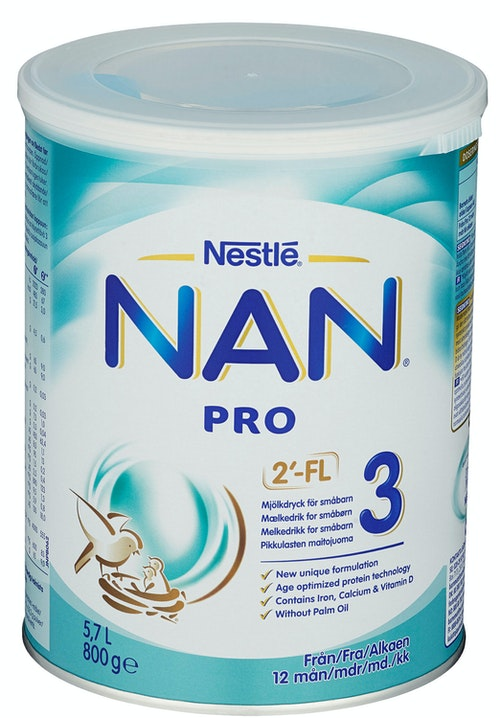 Nestlé NAN Pro 3 Juniormelk Fra 12 mnd, 800 g