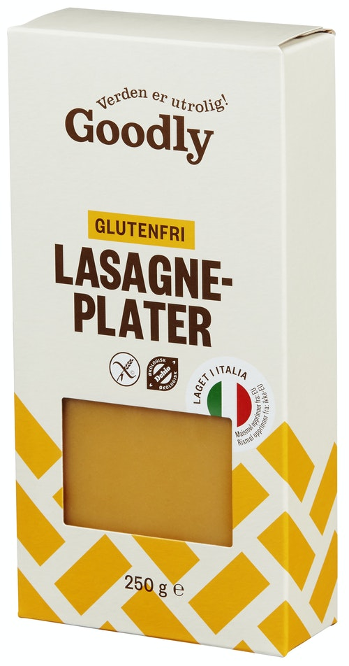 Goodly Lasagneplater Glutenfri Økologisk, 250 g
