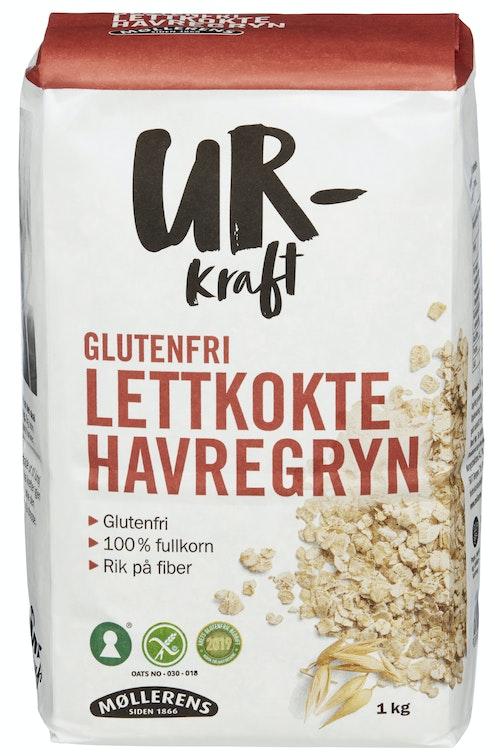 Ur Kraft Glutenfri Havregryn Lettkokte 1 kg
