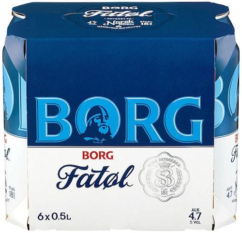 Hansa Borg Borg Fatøl 6 x 0,5l, 3 l