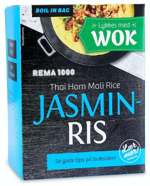 REMA 1000 Jasminris 8x125g, Boil-in-bag, 1 kg