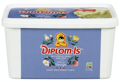Diplom-Is Fløte-Is Vanilje 2 l