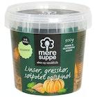Suppe med Linser, Søtpotet, Gresskar og Spinat