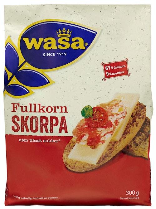 Wasa Fullkorn Skorpe Uten Sukker 300 g