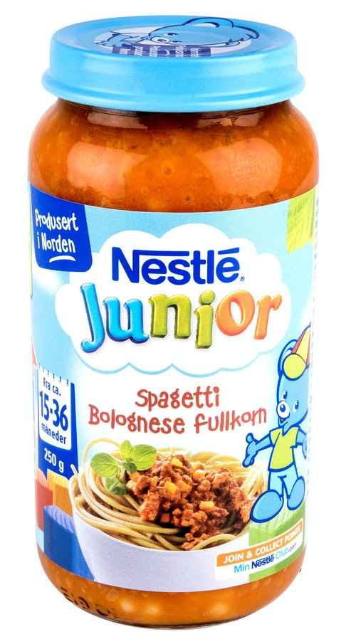 Nestlé Spaghetti Bolognese Fullkorn 15-36 mnd, 220 g