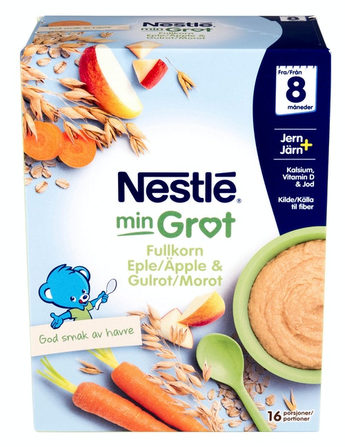Nestlé Min Grøt Fullkorn Eple Gulrot Fra 8 mnd, 480 g