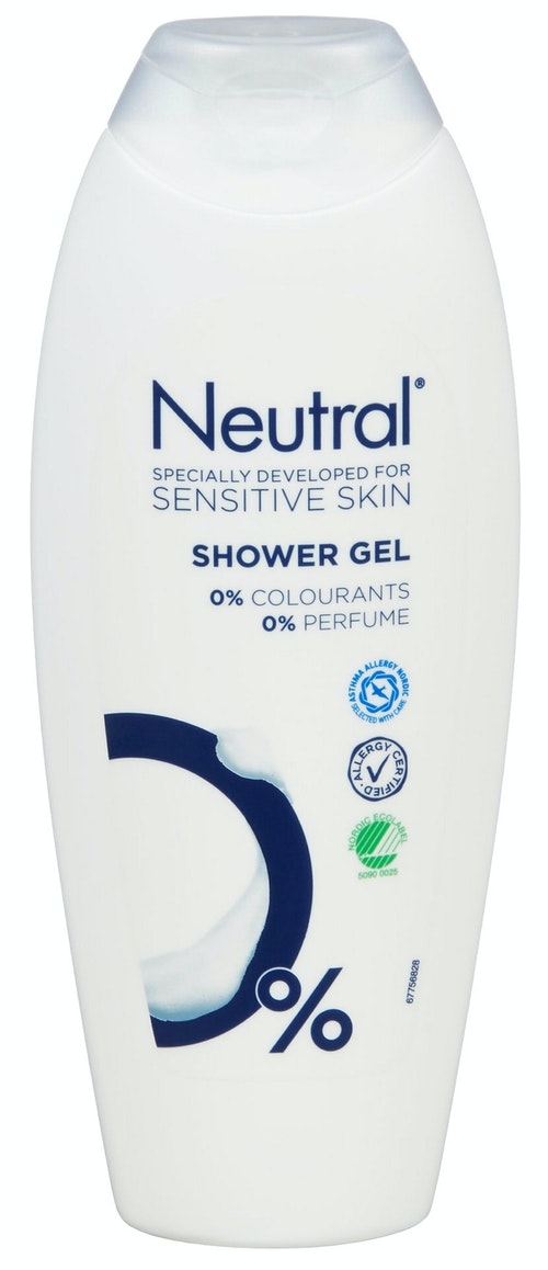 Neutral Dusjgele Uten Parfyme, 250 ml