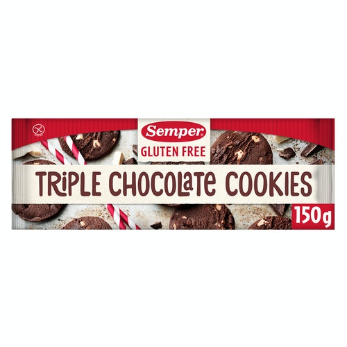 Semper Triple Choco Cookies Glutenfri, 150 g