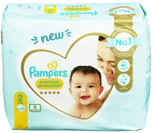 Pampers Pampers Premium Protection New baby Str.2 4-8kg, 30 stk