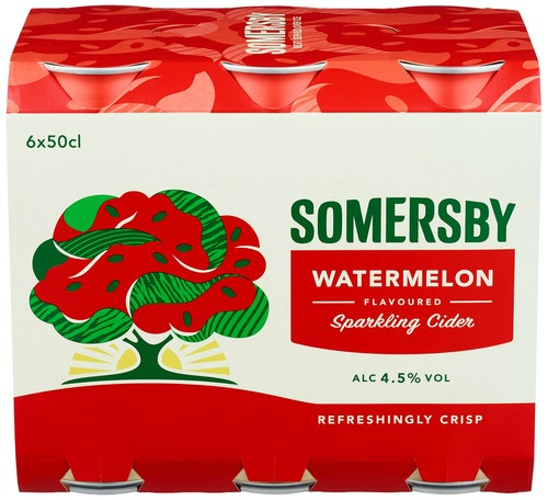 Somersby Somersby Watermelon 6 x 0,5l, 3 l
