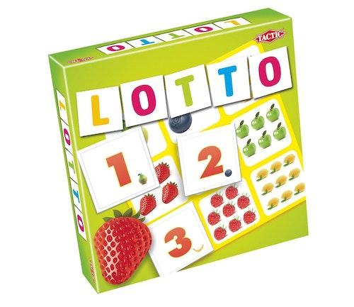 Tactic Lotto med tall og frukt 1 stk