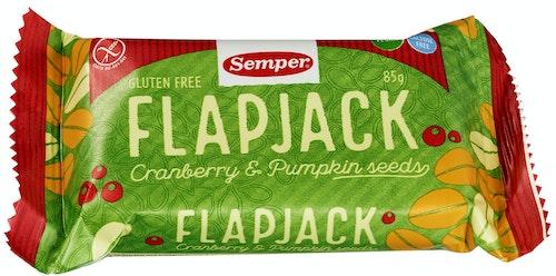 Semper Flapjack Tranebær Glutenfri, 0,09 kg