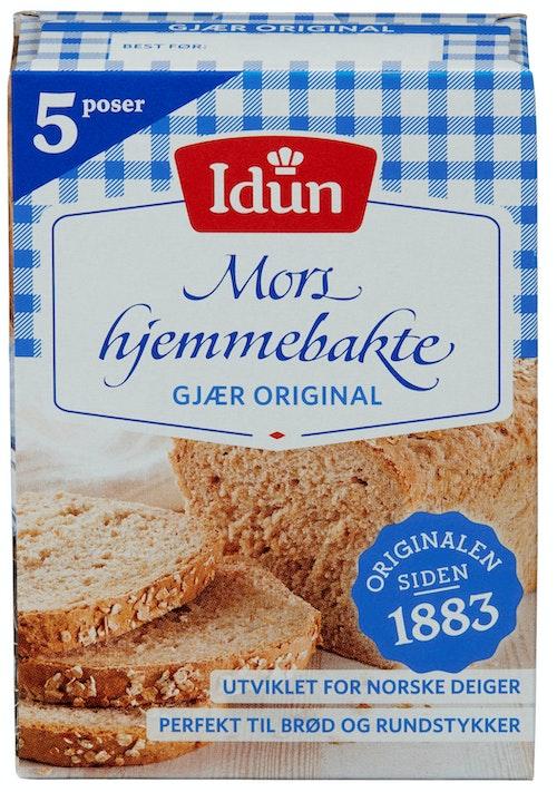 Idun Tørrgjær Original 5 poser, 65 g