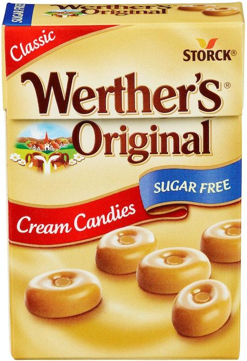 Werthers Werthers Original Drops Sukkerfri, 42 g