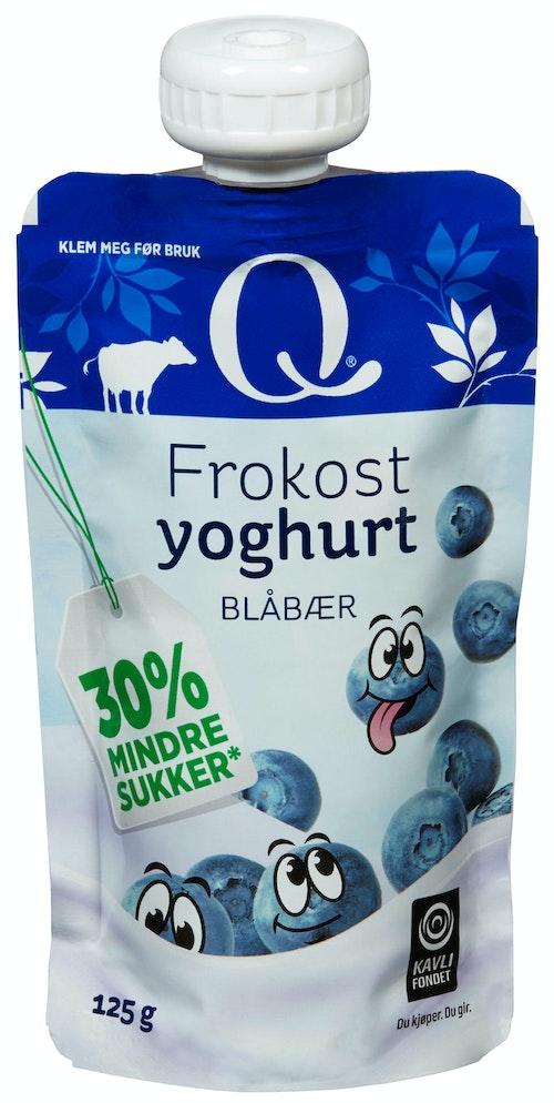 Q-meieriene Q Frokostyoghurt Blåbær 125 g