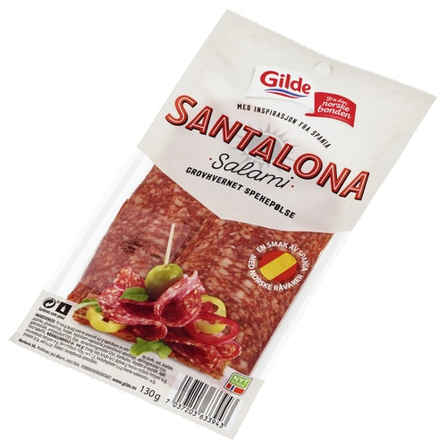 Gilde Salami Santalona I Skiver, 130 g