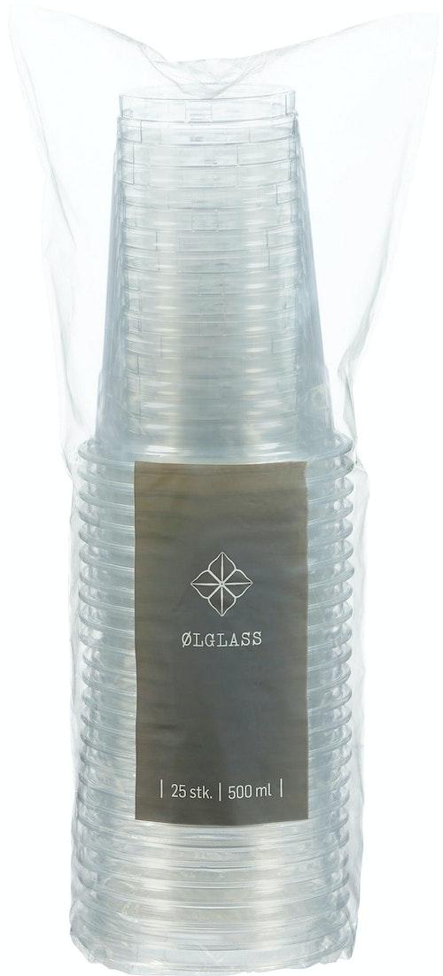 REMA 1000 Ølglass Plast 0,5l, 25 stk