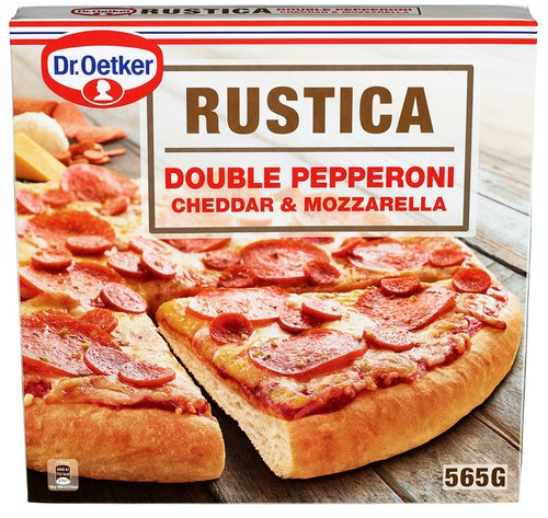 Dr. Oetker Rustica Pizza Double Pepperoni, 656 g