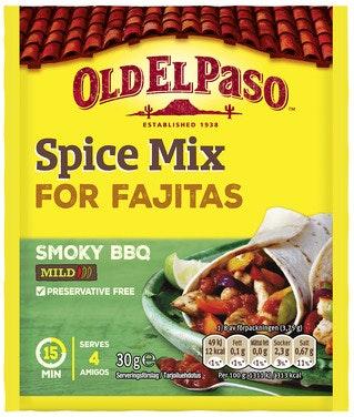 Old El Paso Spice Mix Fajita Smoky BBQ, 30 g