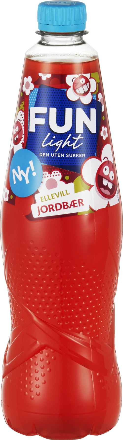 Fun Light Jordbær 0,8 l