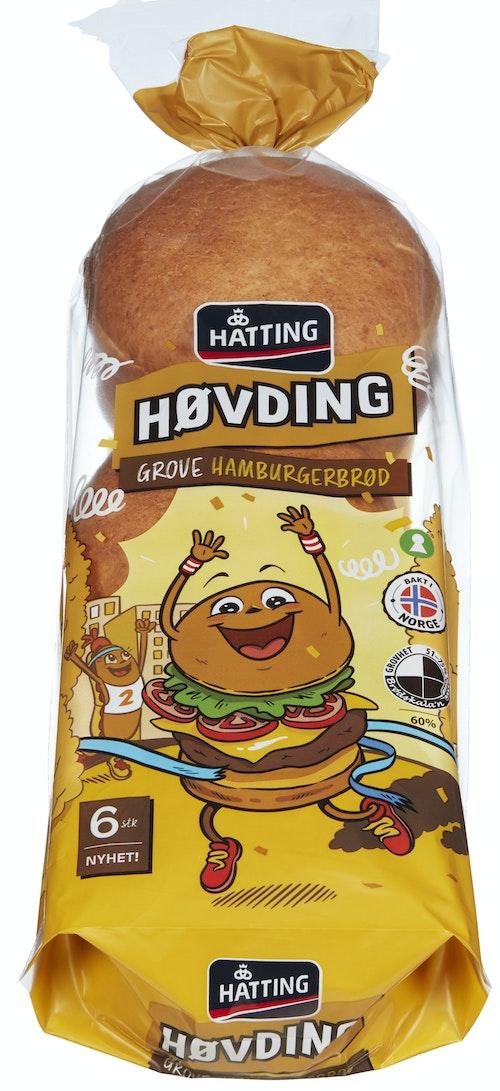 Hatting Grove Hamburgerbrød 6 stk, 420 g