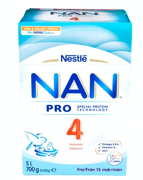 Nestlé NAN Pro 4 Juniormelk Fra 15 mnd, 700 g