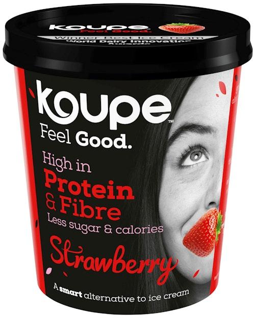 Koupe Protein-is Jordbær 500 g