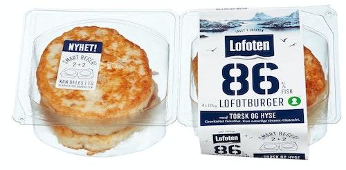 Lofoten Burger av Torsk & Hyse 86%, 500 g