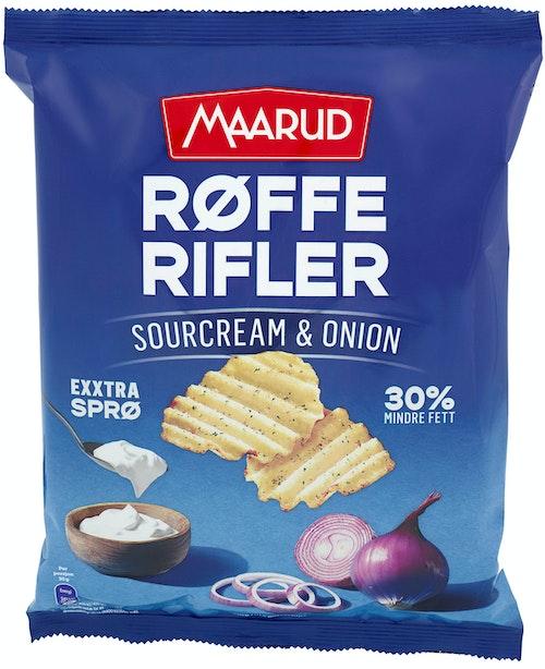 Maarud Røffe Rifler Sourcream & Onion, 190 g