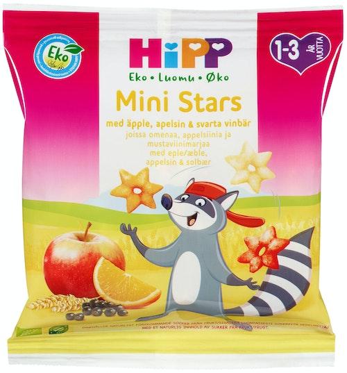 Hipp Mini-Stars med Eple, Appelsin og Solbær Fra 1-3 år, 37 g