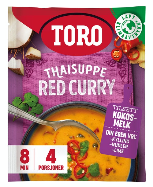 Toro Thaisuppe Red Curry 84 g