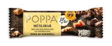 Sørlandschips Poppa Müslibar Havrekjeks & Melkesjokolade, 25 g