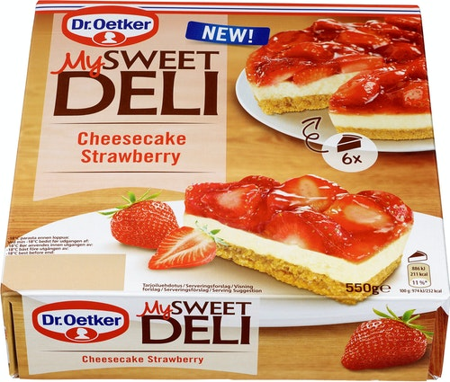 Dr. Oetker Cheesecake Strawberry 550 g