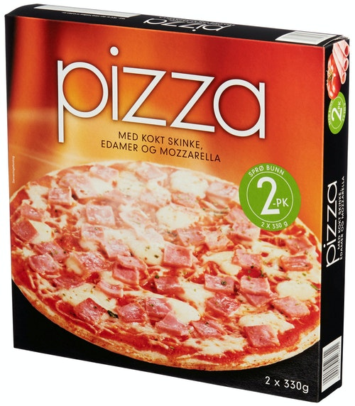 REMA 1000 Pizza Skinke 2x330g, 660 g