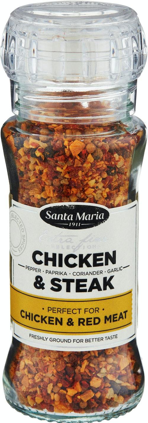 Santa Maria Chicken & Steak Med kvern, 75 g