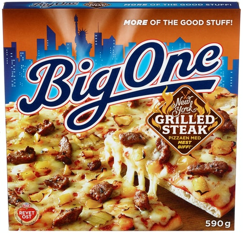 Big One Big One NY Grilled Steak Pizza, 590 g